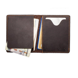 Bi-fold Leather Money Clip-Wallet-UAE LEATHERS