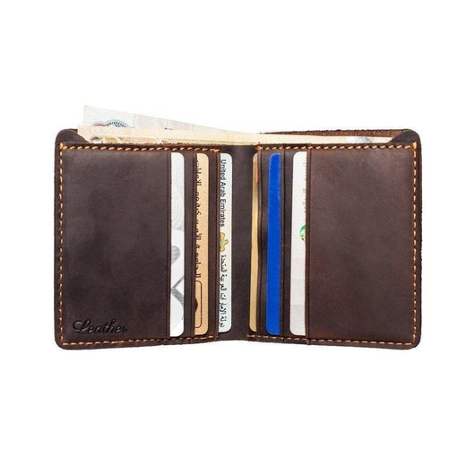Bi-Fold Leather Wallet for Men-Wallet-UAE LEATHERS