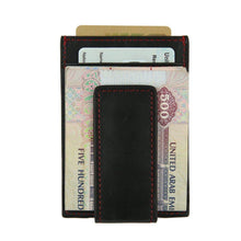 Load image into Gallery viewer, Black - Slim Card Holder with Money Clip-Wallet-UAE LEATHERS