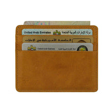 Load image into Gallery viewer, Brown - Slim Card Holder - Six cards-Wallet-UAE LEATHERS