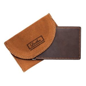 Leather Money Clip with Card Slots-Wallet-UAE LEATHERS