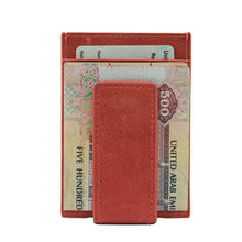 Load image into Gallery viewer, Pink - Slim Card Holder with Money Clip-Wallet-UAE LEATHERS
