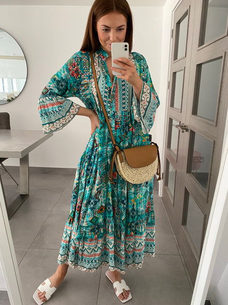 Mykonos Dress - Turquoise
