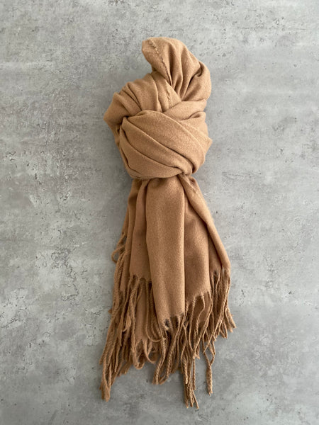 Plain Soft Scarf - Tan