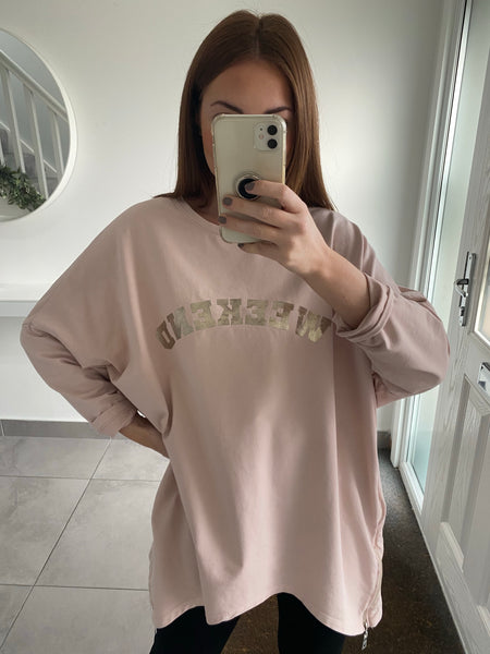 Weekend Sweatshirt - Pink