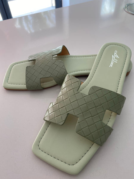Woven Sandals - Sage Green