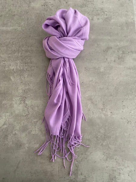 Plain Soft Scarf - Lilac