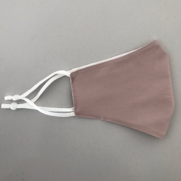 Nude Pink Adjustable Cotton Face Mask