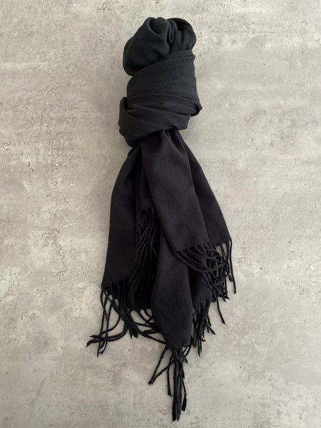 Plain Soft Scarf - Black