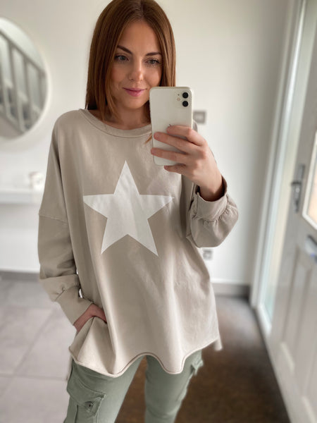 Star Sweatshirt - Stone
