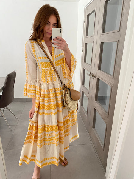 Midi Thea Dress - Yellow