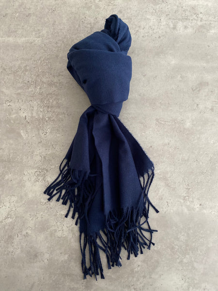 Plain Soft Scarf - Navy