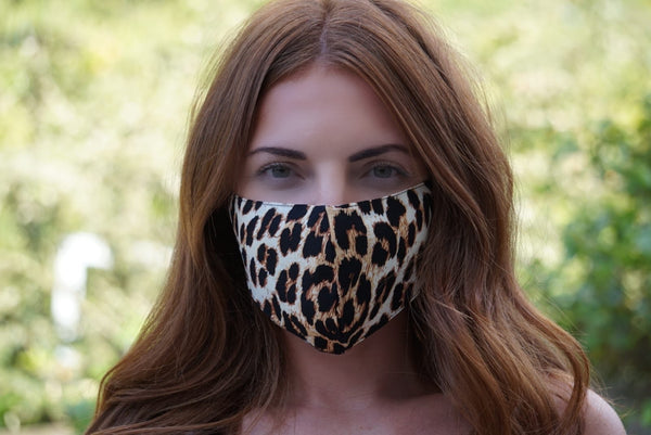 Leopard Print Adjustable Cotton Face Mask