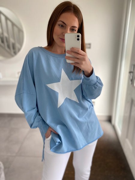 Star Sweatshirt - Blue