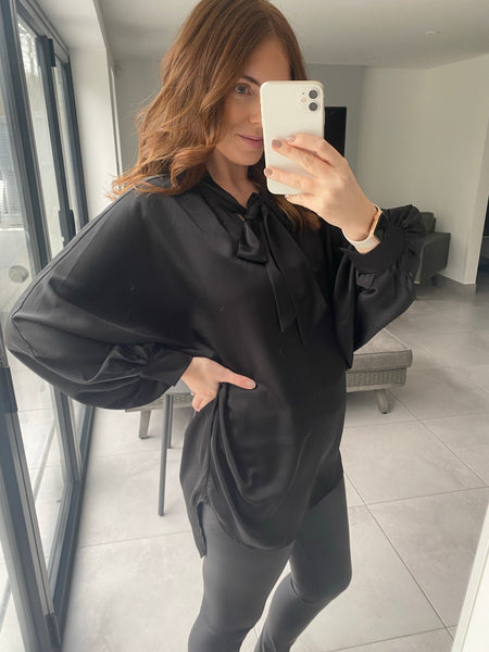 Gold Sequin Lips Jumper - Mint