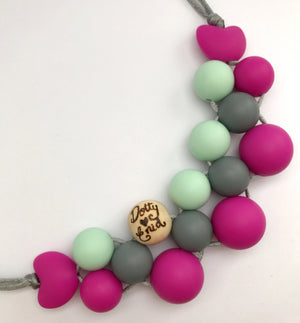 Disco Dot: personalised teething necklace