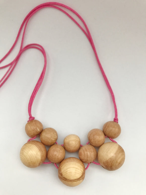 Aromatic juniper and nursing necklace (pink) **LIMITED STOCK**