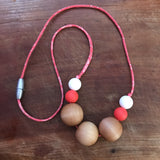 Liberty Coral Capel A: maple wood teething/nursing necklace *LIMITED EDITION*