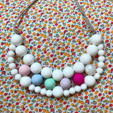 Silicone teething necklace: unicorn