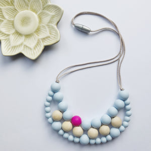 Teething necklace, teething jewellery, silicone teething beads, new mum gift, Mother's Day gift