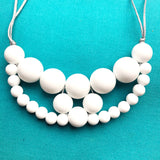 Silicone teething necklace: ice white