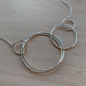 Silver bubbles necklace - available as a set with earrings