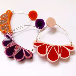 Abstract floral earrings: