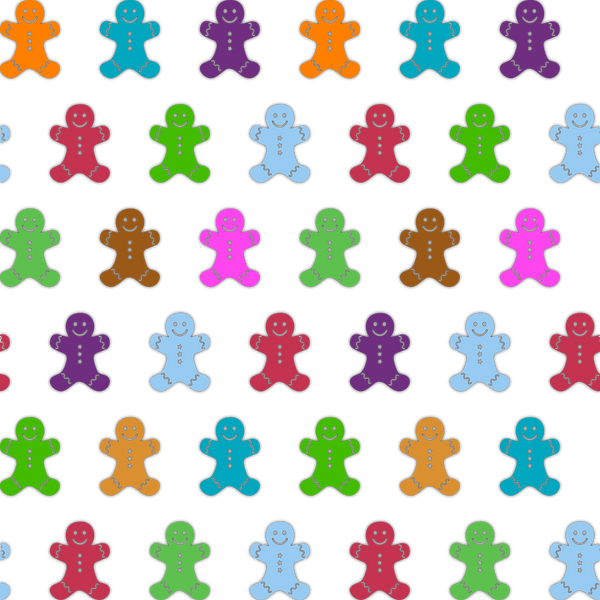 Multi-Colored Ginger Bread Men Photo Backdrop