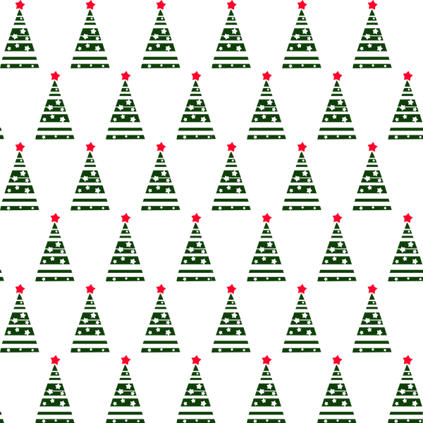 Patterned Christmas Trees Photo Backdrop
