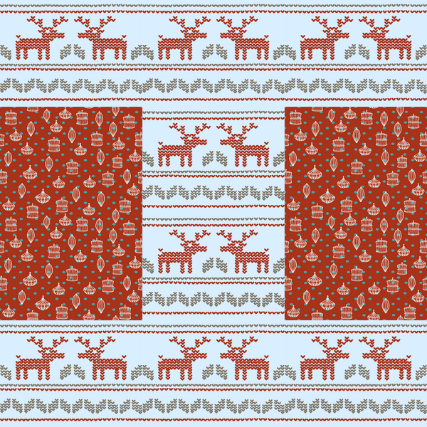 Red Holiday Reindeer Photo Backdrop