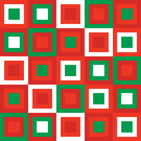 Christmas Squares Photo Backdrop