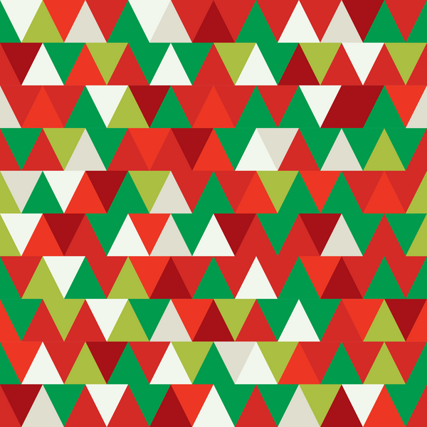 Christmas Triangles Photo Backdrop