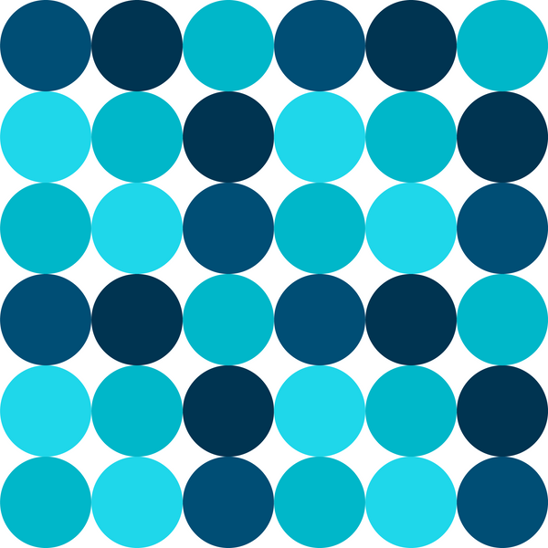Multi Blue Circles Photo Backdrop