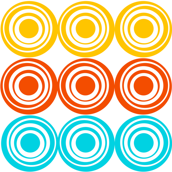 Retro Circles Photo Backdrop
