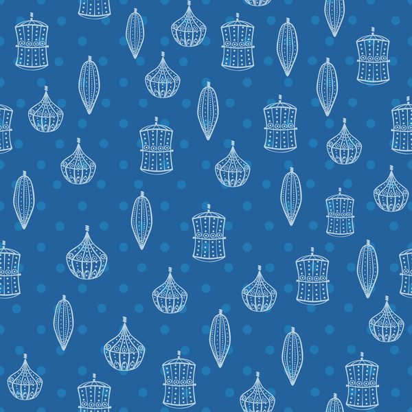 Dark Blue Ornament Photo Backdrop