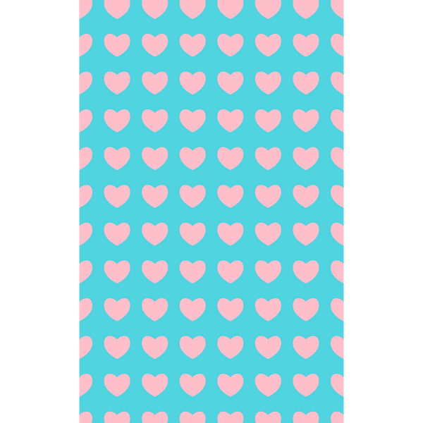 Pink On Blue Hearts Photo Backdrop