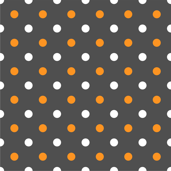 Halloween Polka Dots Photo Backdrop