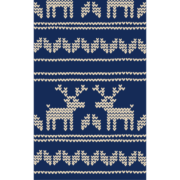 Heart Deers on Dark Blue Photo Backdrop