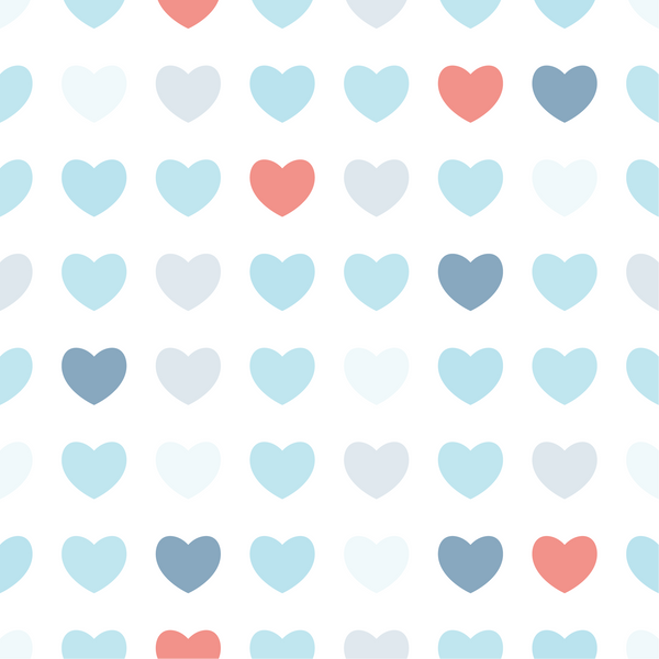 Blue & Pink Hearts Photo Backdrop