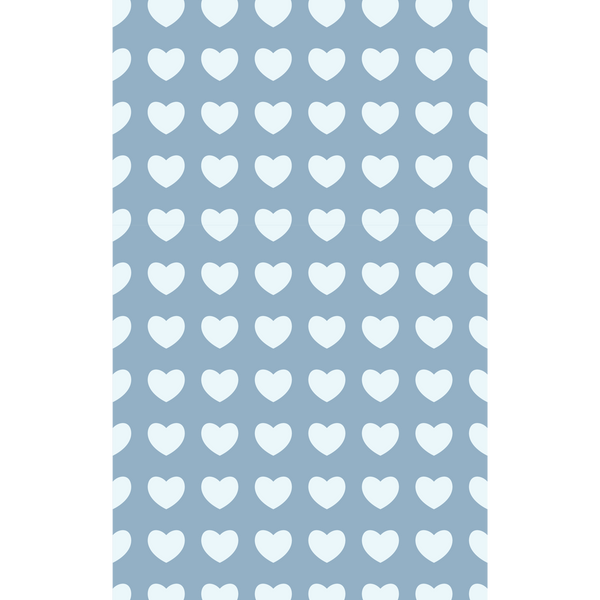 White Hearts On Baby Blue Photo Backdrop