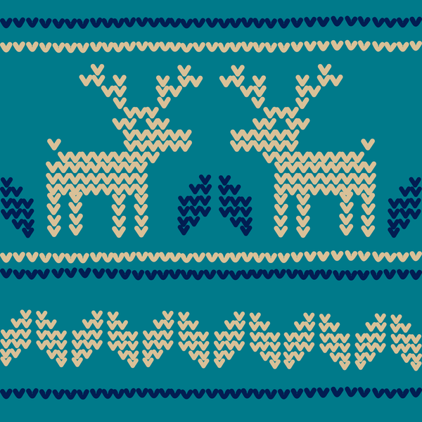 Reindeer on Blue Photo Backdrop
