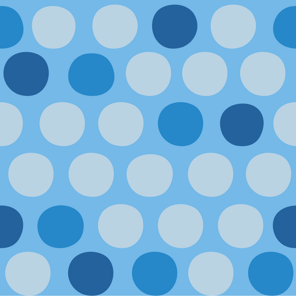 Shades of Blue Circles Photo Backdrop