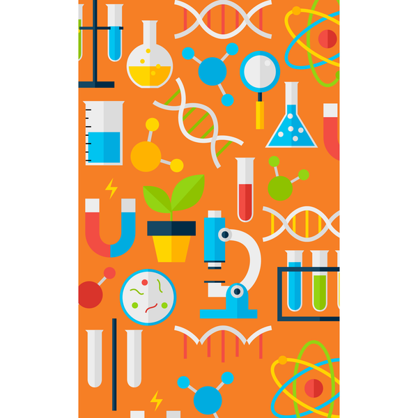 School Laboratory Photo Backdrop