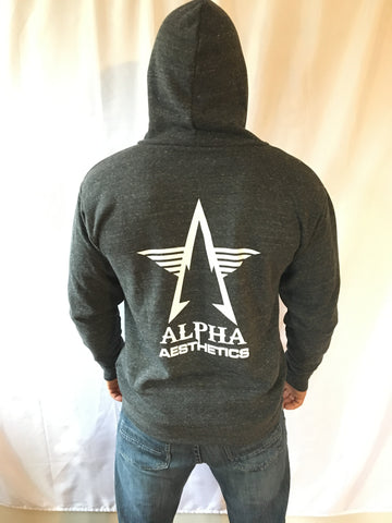 Alpha Aesthetics Logo Zip-up Hooded Sweatshirt