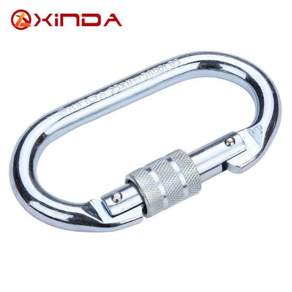 XINDA 25Kn Steel screw gate carabiner