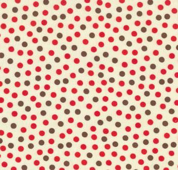 Funky Monkey Dots - Brown/Red 15073-17