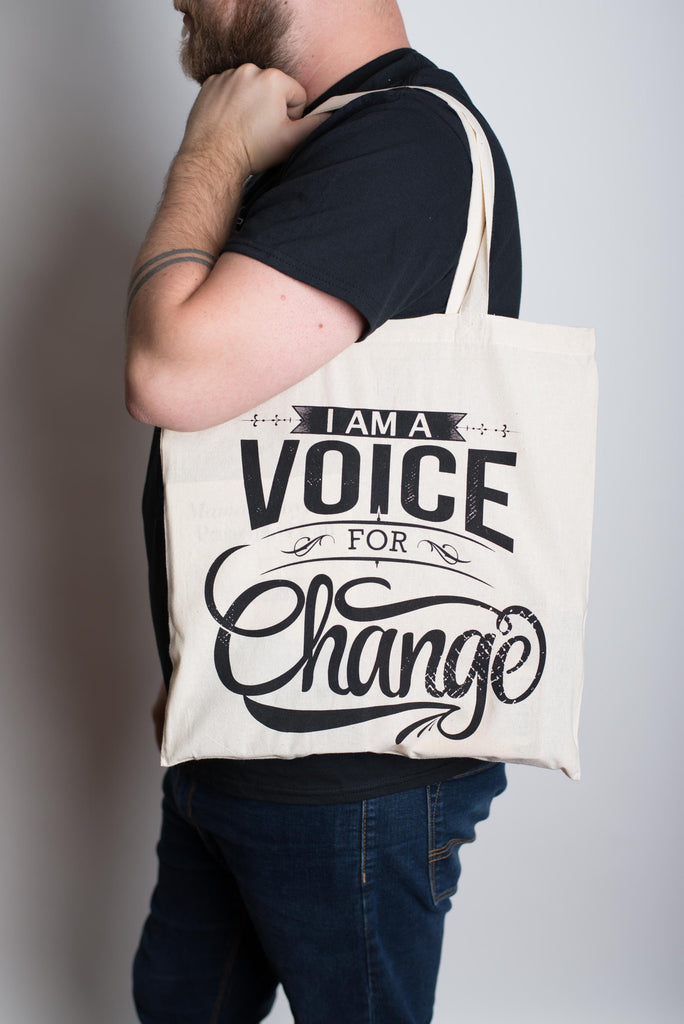 Voice for Change Tote Bag - Shop Progress
