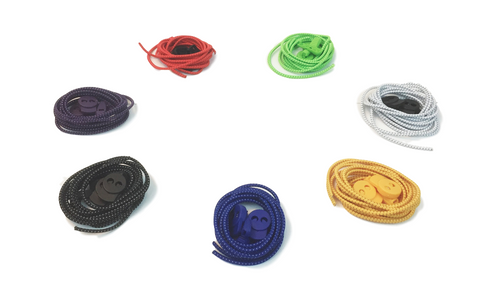 Elastic Zip No-Tie Shoelaces - Variety of Colors - 48""