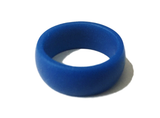 Simple Flexible Silicone Wedding Bands - Black, Blue, Silver