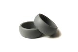 Simple Silver / Grey Flexible Silicone Active Wedding Band